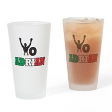 Yo Adrian Drinking Glass