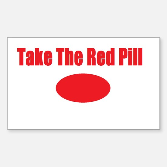 Take The Red Pill Sticker (Rectangle)