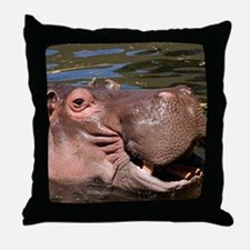 Happy Hippo Throw Pillow
