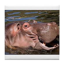 Happy Hippo Tile Coaster