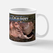 I'm so happy: hippo Mug
