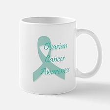 Ovarian Cancer Awareness Teal Ribbon Mug