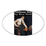 Penthouse Man Sticker (Oval 50 pk)