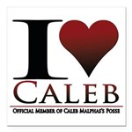I Heart Caleb Square Car Magnet 3