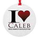 I Heart Caleb Round Ornament