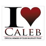 I Heart Caleb Small Poster