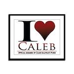 I Heart Caleb Framed Panel Print