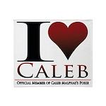 I Heart Caleb Throw Blanket
