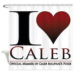 I Heart Caleb Shower Curtain