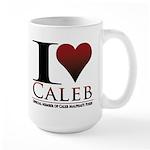 I Heart Caleb Large Mug