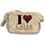 I Heart Caleb Messenger Bag