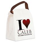 I Heart Caleb Canvas Lunch Bag
