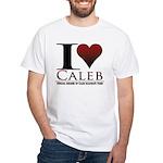 I Heart Caleb White T-Shirt