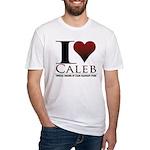 I Heart Caleb Fitted T-Shirt