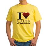 I Heart Caleb Yellow T-Shirt