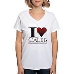 I Heart Caleb Women's V-Neck T-Shirt