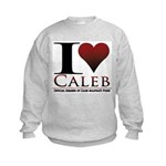 I Heart Caleb Kids Sweatshirt