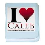 I Heart Caleb baby blanket