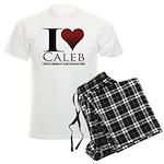 I Heart Caleb Men's Light Pajamas