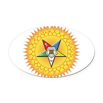 OES In the Sun Oval Car Magnet