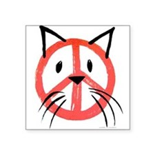 PEACE CAT Sticker