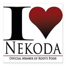 "I Heart Kody Square Car Magnet 3"" x 3"""