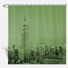 NYC, Green, Shower Curtain