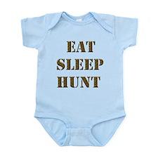 EAT SLEEP HUNT 001 brown Infant Bodysuit