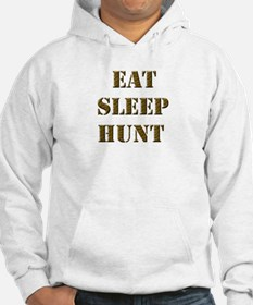 EAT SLEEP HUNT 001 brown Hoodie