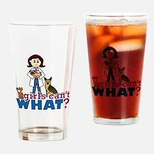 Veterinarian Girl Drinking Glass