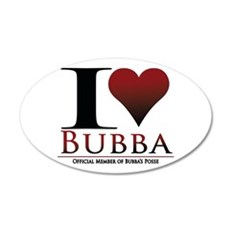 I Heart Bubba 20x12 Oval Wall Decal