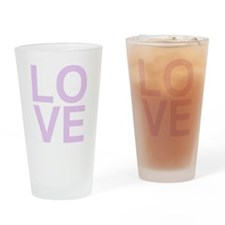 LOVE Pink. Drinking Glass
