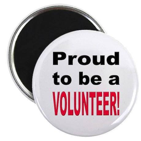 """Proud Volunteer 2.25"""" Magnet (10 pack)"""
