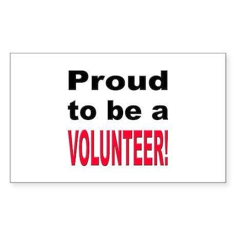 Proud Volunteer Rectangle Sticker