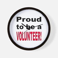 Proud Volunteer Wall Clock