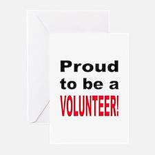 Proud Volunteer Greeting Cards (Pk of 10)