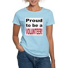 Proud Volunteer Women's Pink T-Shirt