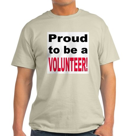 Proud Volunteer Ash Grey T-Shirt