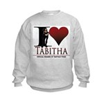 I Heart Tabby Kids Sweatshirt