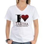 I Heart Tabby Women's V-Neck T-Shirt