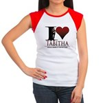 I Heart Tabby Women's Cap Sleeve T-Shirt