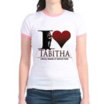 I Heart Tabby Jr. Ringer T-Shirt