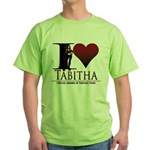 I Heart Tabby Green T-Shirt