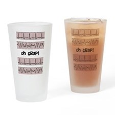 oh crap cell phone cases CP.PNG Drinking Glass