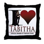 I Heart Tabby Throw Pillow