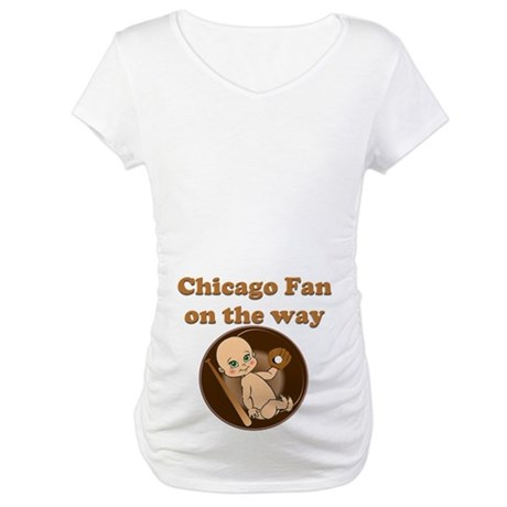 Chicago Fan on the way Maternity T-Shirt