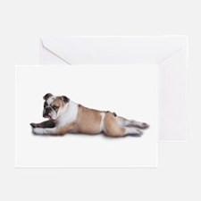 Lounging Bulldog Greeting Cards (Pk of 10)