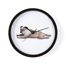 Lounging Bulldog Wall Clock