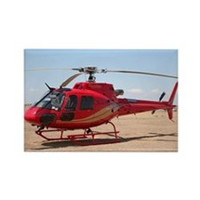 Helicopter, red Rectangle Magnet