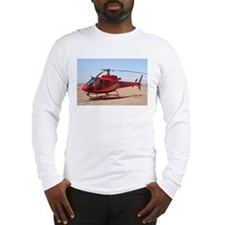 Helicopter, red Long Sleeve T-Shirt